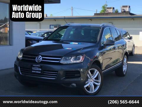 2013 Volkswagen Touareg for sale at Worldwide Auto Group in Auburn WA