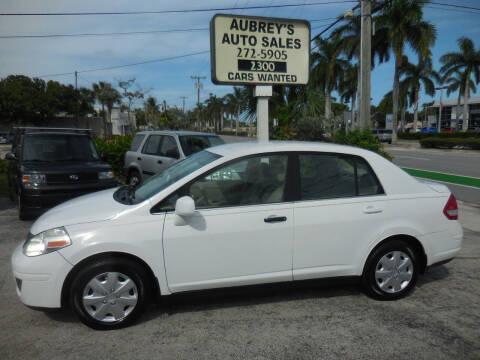 2009 Nissan Versa for sale at Aubrey's Auto Sales in Delray Beach FL