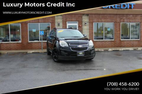 2012 Chevrolet Equinox for sale at Luxury Motors Credit Inc in Bridgeview IL