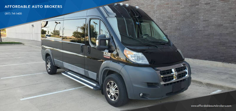 2016 RAM ProMaster Window for sale at AFFORDABLE AUTO BROKERS in Keller TX