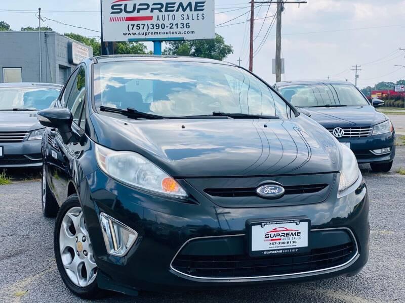 2011 Ford Fiesta for sale at Supreme Auto Sales in Chesapeake VA