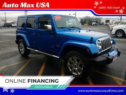 2016 Jeep Wrangler Unlimited for sale at Auto Max USA in Yakima WA
