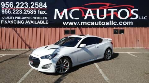2015 Hyundai Genesis Coupe for sale at MC Autos LLC in Pharr TX