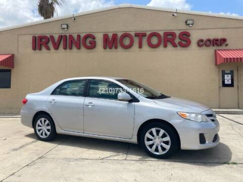 2012 Toyota Corolla for sale at Irving Motors Corp in San Antonio TX