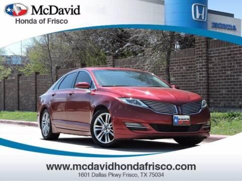 2015 Lincoln MKZ for sale at DAVID McDAVID HONDA OF IRVING in Irving TX