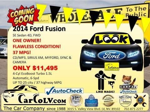 2014 Ford Fusion for sale at The Car Company in Las Vegas NV