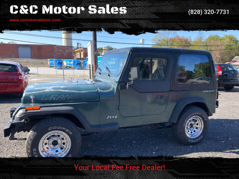 1994 Jeep Wrangler for sale at C&C Motor Sales LLC in Hudson NC