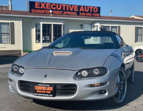 2002 Chevrolet Camaro for sale at Executive Auto in Winchester VA