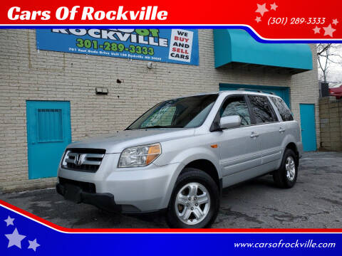 2008 Honda Pilot for sale at Cars Of Rockville in Rockville MD