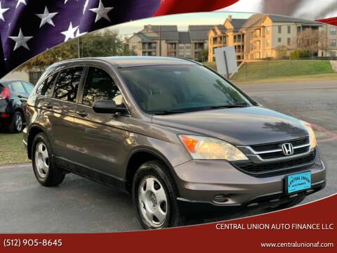 2010 Honda CR-V for sale at Central Union Auto Finance LLC in Austin TX