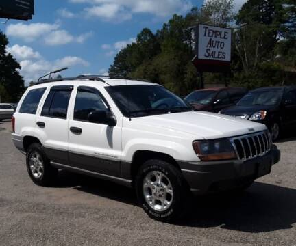 2000 Jeep Grand Cherokee for sale at TEMPLE AUTO SALES in Zanesville OH