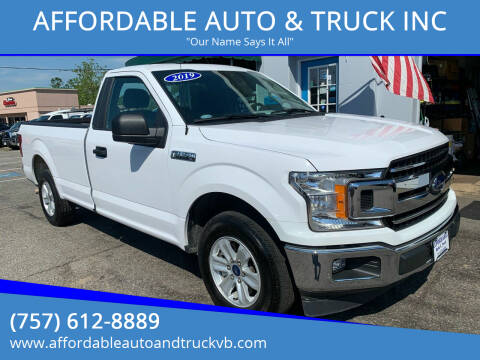 2019 Ford F-150 for sale at AFFORDABLE AUTO & TRUCK INC in Virginia Beach VA
