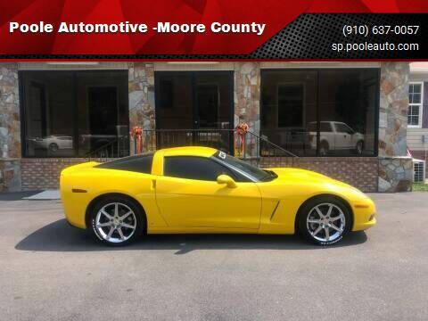 2008 Chevrolet Corvette for sale at Poole Automotive in Laurinburg NC