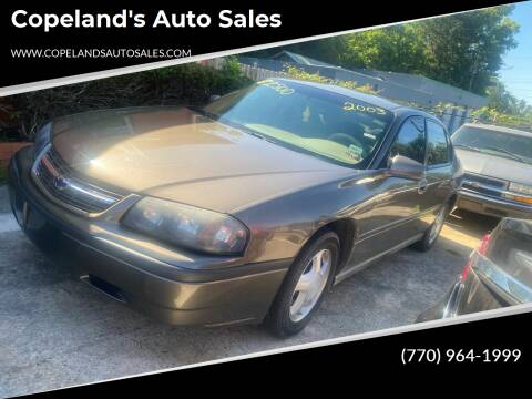 2003 Chevrolet Impala for sale at Copeland's Auto Sales in Union City GA