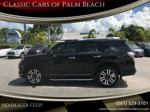 2016 Toyota 4Runner for sale at Classic Cars of Palm Beach in Jupiter FL