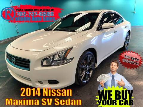 2014 Nissan Maxima for sale at Reliable Auto Sales in Las Vegas NV