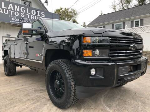 2016 Chevrolet Silverado 2500HD for sale at Langlois Auto and Truck LLC in Kingston NH