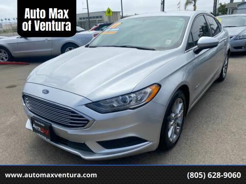 2017 Ford Fusion Hybrid for sale at Auto Max of Ventura in Ventura CA