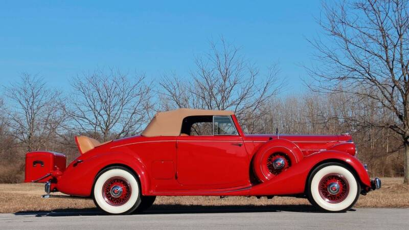 1936 Packard Eight 1401  for sale at Drummond MotorSports LLC in Fort Wayne IN