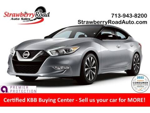 2016 Nissan Maxima for sale at Strawberry Road Auto Sales in Pasadena TX