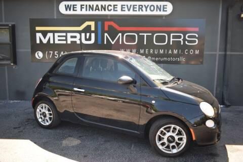 2015 FIAT 500 for sale at Meru Motors in Hollywood FL