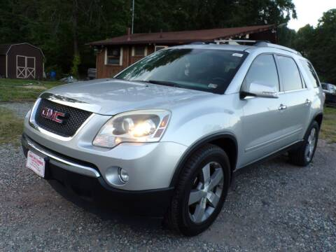 2012 GMC Acadia for sale at Select Cars Of Thornburg in Fredericksburg VA