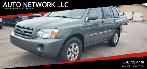 2005 Toyota Highlander for sale at AUTO NETWORK LLC in Petersburg VA
