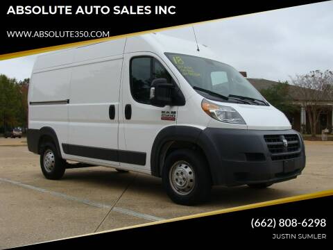 2018 RAM ProMaster Cargo for sale at ABSOLUTE AUTO SALES INC in Corinth MS