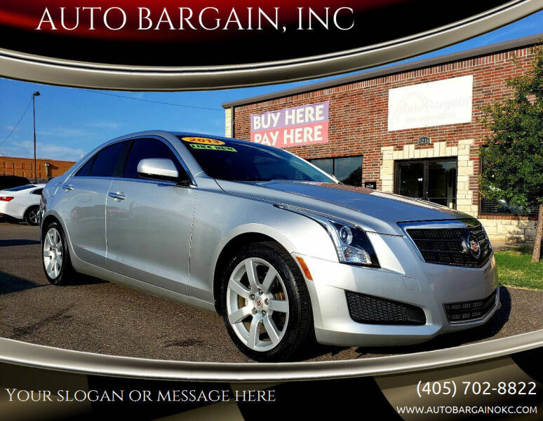 2013 Cadillac ATS for sale at AUTO BARGAIN, INC. #2 in Oklahoma City OK