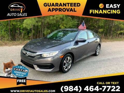 2017 Honda Civic for sale at Drive 1 Auto Sales in Wake Forest NC
