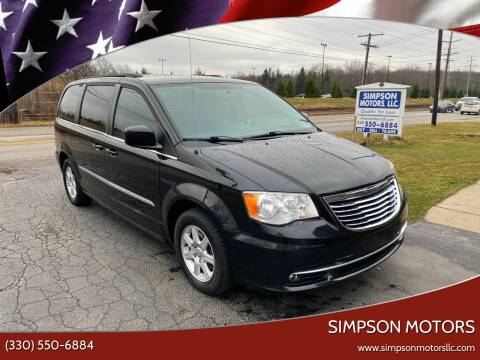 2011 Chrysler Town and Country for sale at SIMPSON MOTORS in Youngstown OH