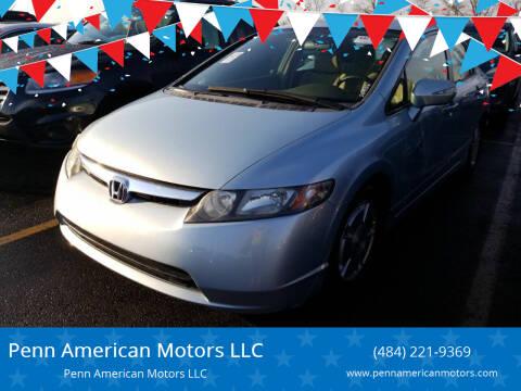 2006 Honda Civic for sale at Penn American Motors LLC in Allentown PA