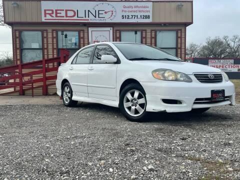 2006 Toyota Corolla for sale at REDLINE AUTO SALES LLC in Cedar Creek TX