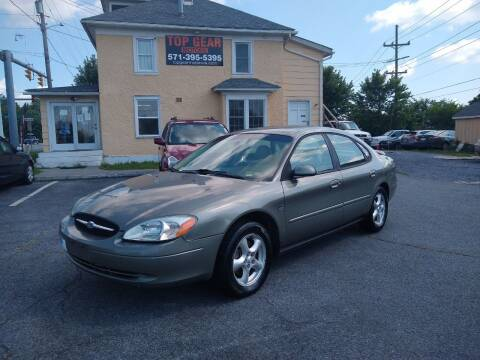 2002 Ford Taurus for sale at Top Gear Motors in Winchester VA