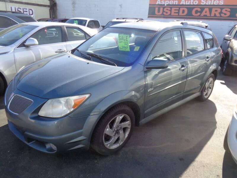 2006 Pontiac Vibe for sale at Aspen Auto Sales in Wayne MI