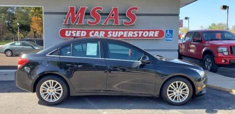 2013 Chevrolet Cruze for sale at MSAS AUTO SALES in Grand Island NE