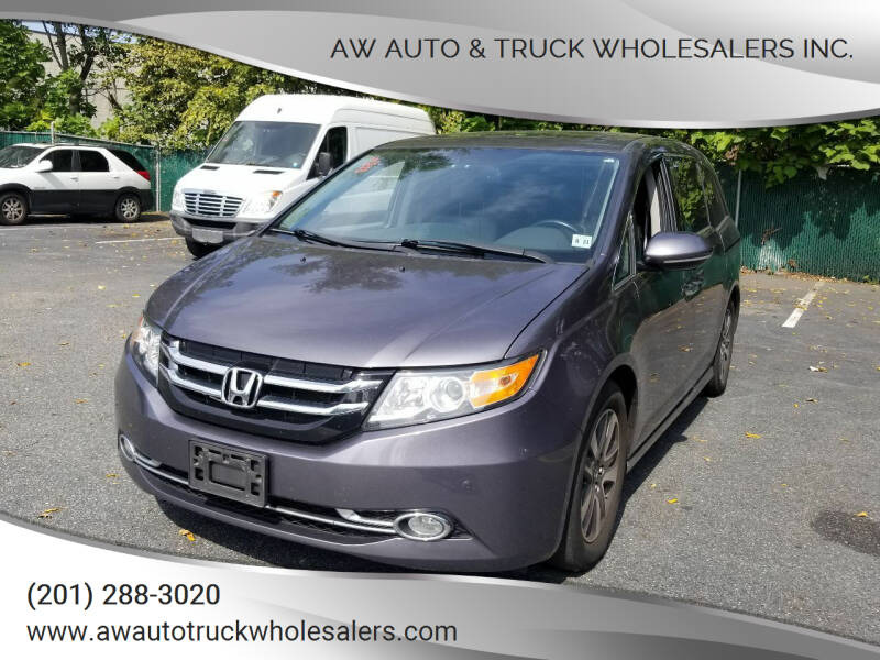 2016 Honda Odyssey for sale at AW Auto & Truck Wholesalers  Inc. in Hasbrouck Heights NJ