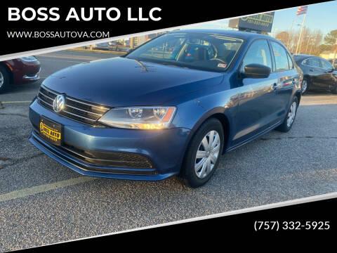 2016 Volkswagen Jetta for sale at BOSS AUTO LLC in Norfolk VA