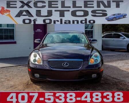 2002 Lexus SC 430 for sale at Excellent Autos of Orlando in Orlando FL