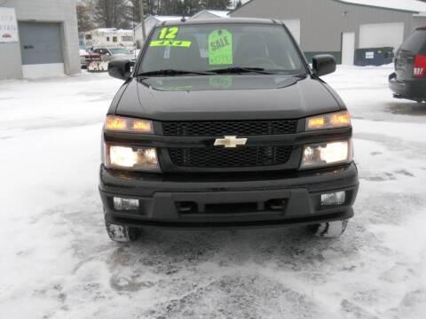 2012 Chevrolet Colorado for sale at Shaw Motor Sales in Kalkaska MI