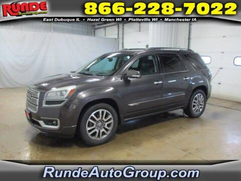 2013 GMC Acadia for sale at Runde Chevrolet in East Dubuque IL