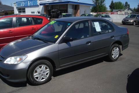 2005 Honda Civic for sale at Tom's Car Store Inc in Sunnyside WA