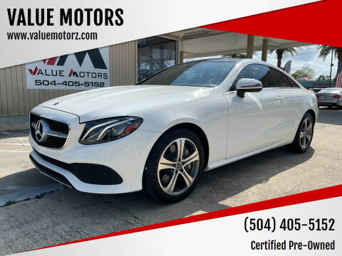 2018 Mercedes-Benz E-Class for sale at VALUE MOTORS in Kenner LA