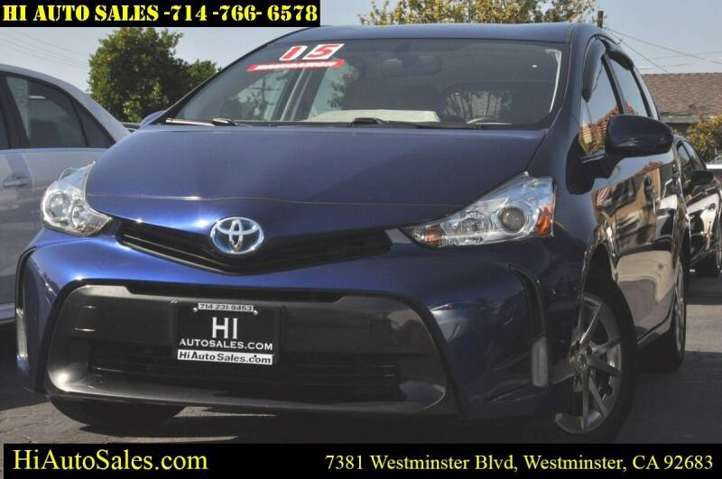 2015 Toyota Prius v for sale at Hi Auto Sales in Westminster CA