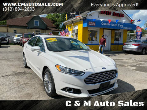 2014 Ford Fusion Hybrid for sale at C & M Auto Sales in Detroit MI