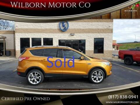 2016 Ford Escape for sale at Wilborn Motor Co in Fort Worth TX