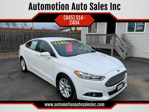 2016 Ford Fusion for sale at Automotion Auto Sales Inc in Kingston NY