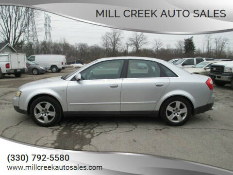 2002 Audi A4 for sale at Mill Creek Auto Sales in Youngstown OH