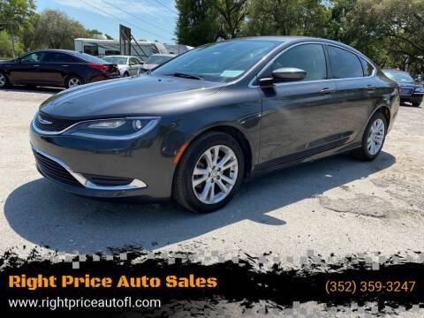 2015 Chrysler 200 for sale at Right Price Auto Sales in Waldo FL