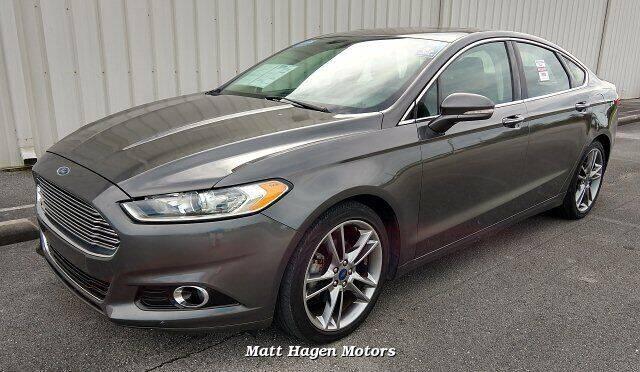 2016 Ford Fusion for sale at Matt Hagen Motors in Newport NC